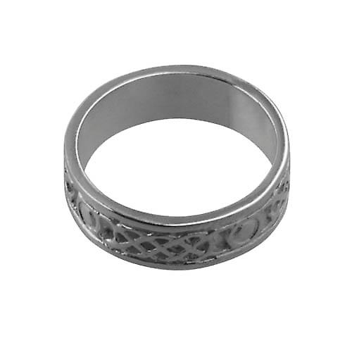 Silver 6mm Celtic Wedding Ring Size Q