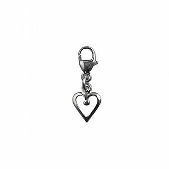 Silber 20x8mm Herz-Symbol der Liebe Charme für einen Hummer-trigger