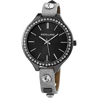 Excellanc 199171600001 Wrist Watch Quartz, bracelet Leatherette, black, female