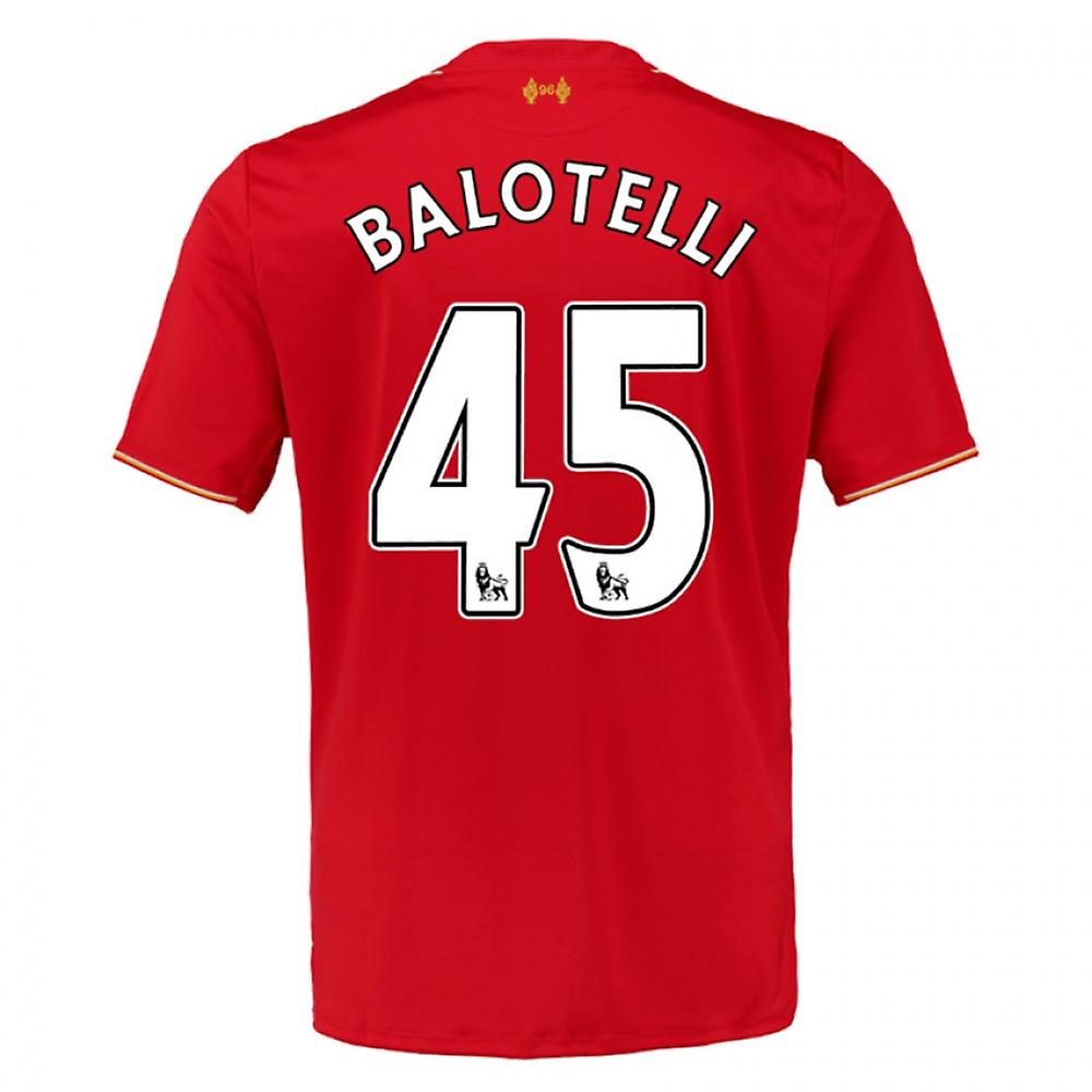 2015-16 Liverpool Home Shirt (Balotelli 45) - Kids