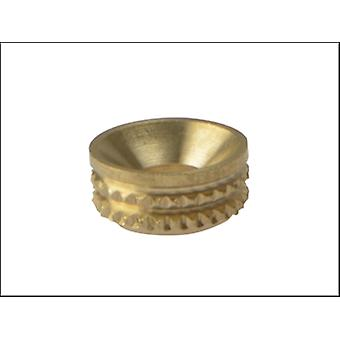 Forgefix Screw Cup Sockets Solid Brass Polished No. 6 Bag 100