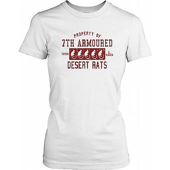 Property of British Army Desert Rats - 7th Armoured Division Ladies T Shirt