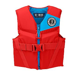 Mustang Rev Youth Foam Vest - 50-90lbs - Imperial Red