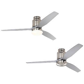 DC, Потолочный вентилятор Aerodynamix Eco матовый хром / серебристый