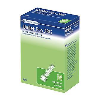 Unilet Eco Lancet 28G 100