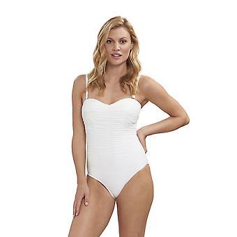 Feraud 3195071-11697 Women's Beach Ivory White Costume One Piece Swimsuit