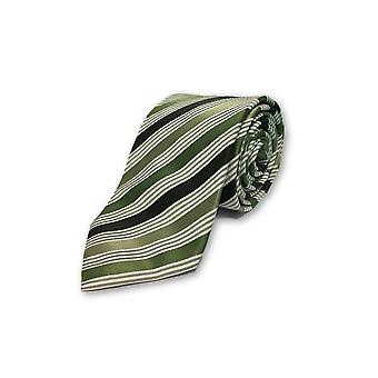 Strellson tie in green, white and black st