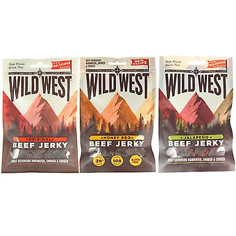 Wild West Mixed Flavour Beef Jerky 35G X 1