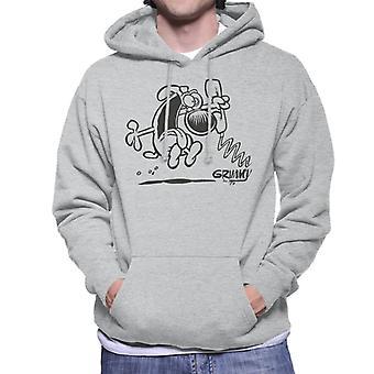 Grimmy On The Phone Men's Hooded Sweatshirt