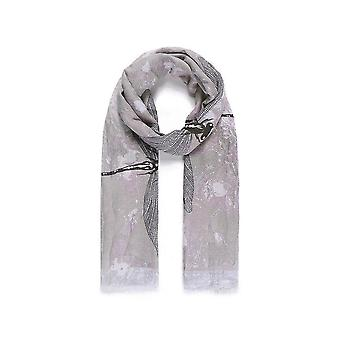 Intrigue Womens/Ladies Large Dragonfly Print Scarf