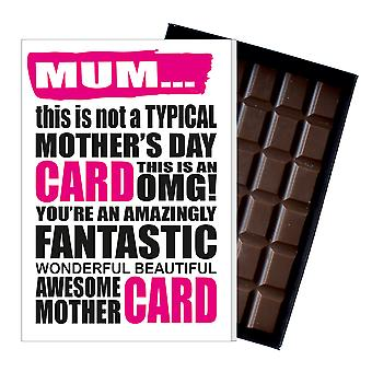 Funny Mother's Day Gift Boxed Chocolate Present Rude Greeting Card Mum Mom Mummy MIYF102
