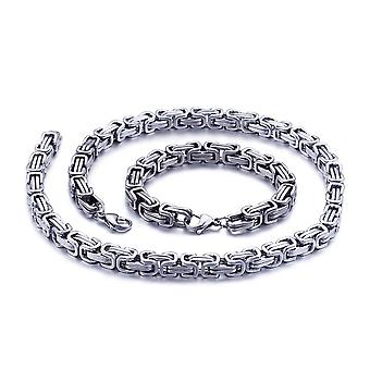 5mm royal chain bracelet men's necklace men's chain necklace, 65 cm silver stainless steel chains