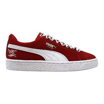 Puma Minion Suede Jr High Risk Red/Puma White 365527 01 Grade-School