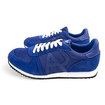 Armani Jeans Mesh Runner Trainers Electric Blue