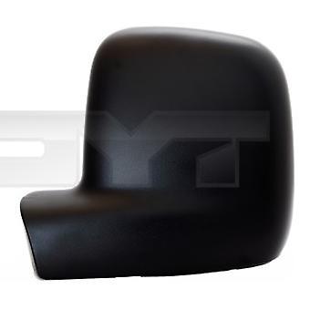 Left Passenger Side Mirror Cover (black grained) For VW CADDY mk3 van 2004-2015