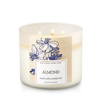Bath & Body Works Almond 3 Wick Candle 14.5 oz / 411 g
