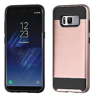 ASMYNA Rose Gold/Black Brushed Hybrid Case for Galaxy S8 Plus