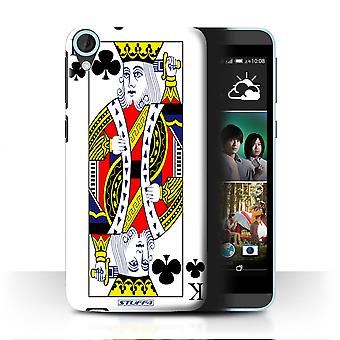 STUFF4 Case/Cover for HTC Desire 820q Dual/King of Clubs/Playing Cards