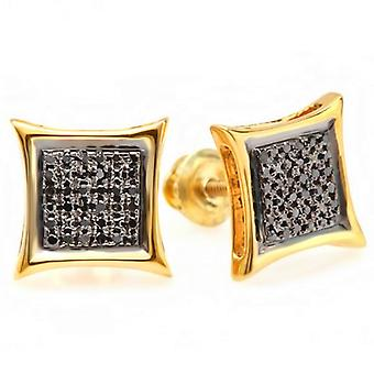 White /& Yellow Diamond Micro Pave Kite Stud Earring ctw Only 1pc Dazzlingrock Collection 0.10 Carat Round Blue