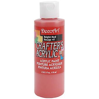 Crafter van acryl All Purpose schilderen 4 Ounces heldere rode Dca10 22