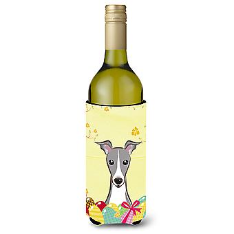 Italian Greyhound Easter Egg Hunt Wine Bottle Koozie Hugger BB1918LITERK
