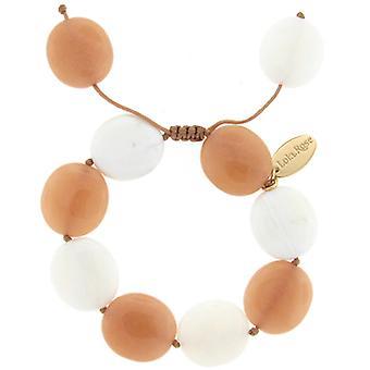 Lola Rose Kinley armbånd Oyster kvartsit Hvid Seashell marmor