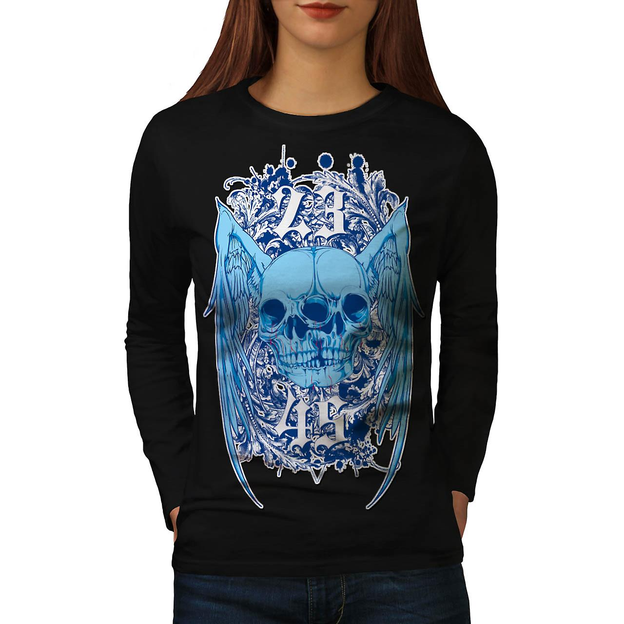 23 Years Horror Skull Women Black Long Sleeve T-shirt | Wellcoda