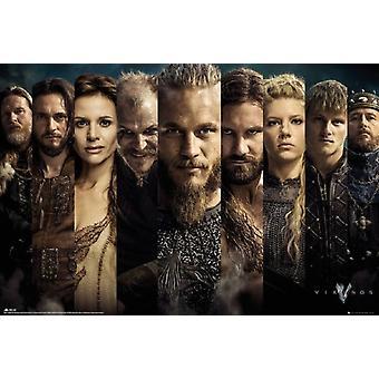 Vikingene - Cast Poster plakatutskrift