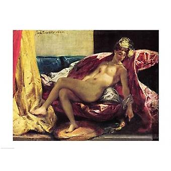 Reclining Odalisque Poster Print by Eugene Delacroix