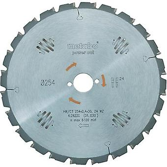 Hard-metal circular saw blades power cut HW/CT 254x30 60 WZ Metabo 628222000