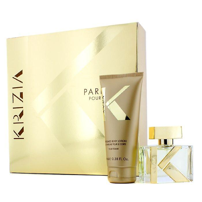 Krizia Pour Femme Coffret: Eau De Toilette 30ml / 1oz Spray + Body Lotion 100ml / 3,38 oz 2st