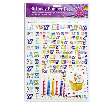 Wrapping Paper, Gift Tags & Cards Birthday Bumper Pack