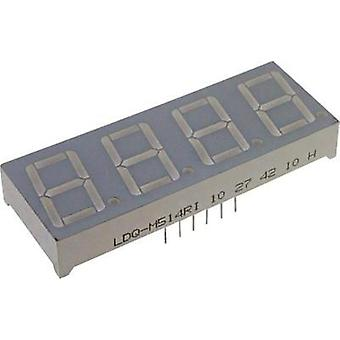Seven-segment display Red 7 mm 1.8 V No. of digits: 4 LUMEX