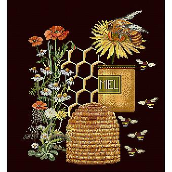 Honey Sampler On Aida Counted Cross Stitch Kit-10.5