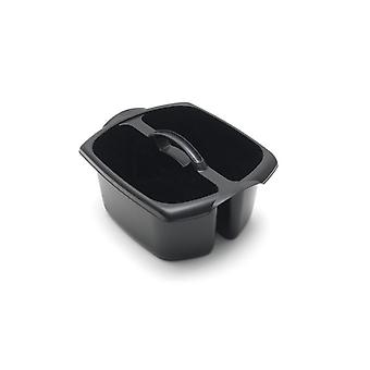 ADDIS Garden Home Cleaning Utility Plastic Caddy Black with Handle
