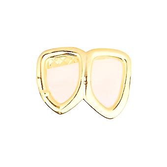 2 tooth Grill - one size fits all - HOLLOW bottom gold