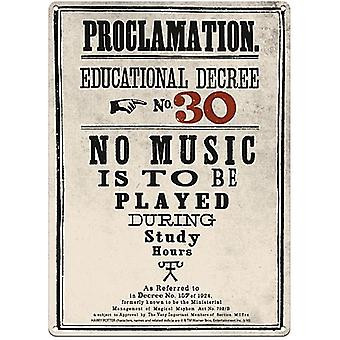 Harry Potter Proclamation No. 30 metal sign 400mm x 300mm  (og)