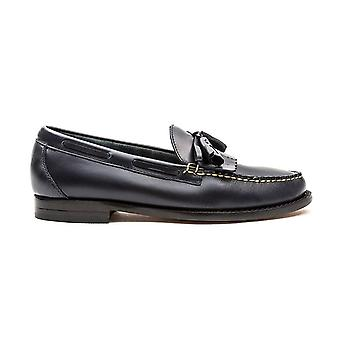 Bass Layton Pull Up Kiltie Navy Leather Loafers