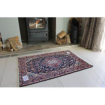 Blå Fine Malayer Persisk uld tæppe