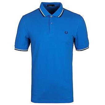 Fred Perry bleu Royal Twin Tipped chemise Polo piqué à manches courtes