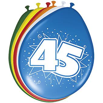 Colorful balloons balloon number 45 birthday 8 St. decoration balloons party