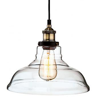 Firstlight Vintage Antique Glass Dome Fisherman Hanging Ceiling Light