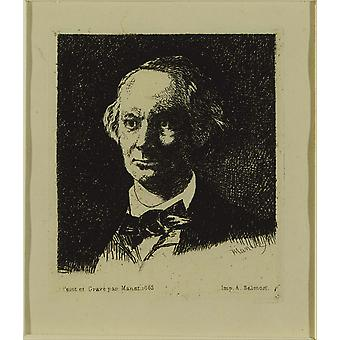Edouard Manet - Baudelaire Poster Print Giclee