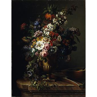 Francesc Lacoma ich Fontanet - Vase mit Blumen Poster Print Giclee