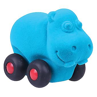 Rubbabu Large Aniwheel Hippo (Blue)
