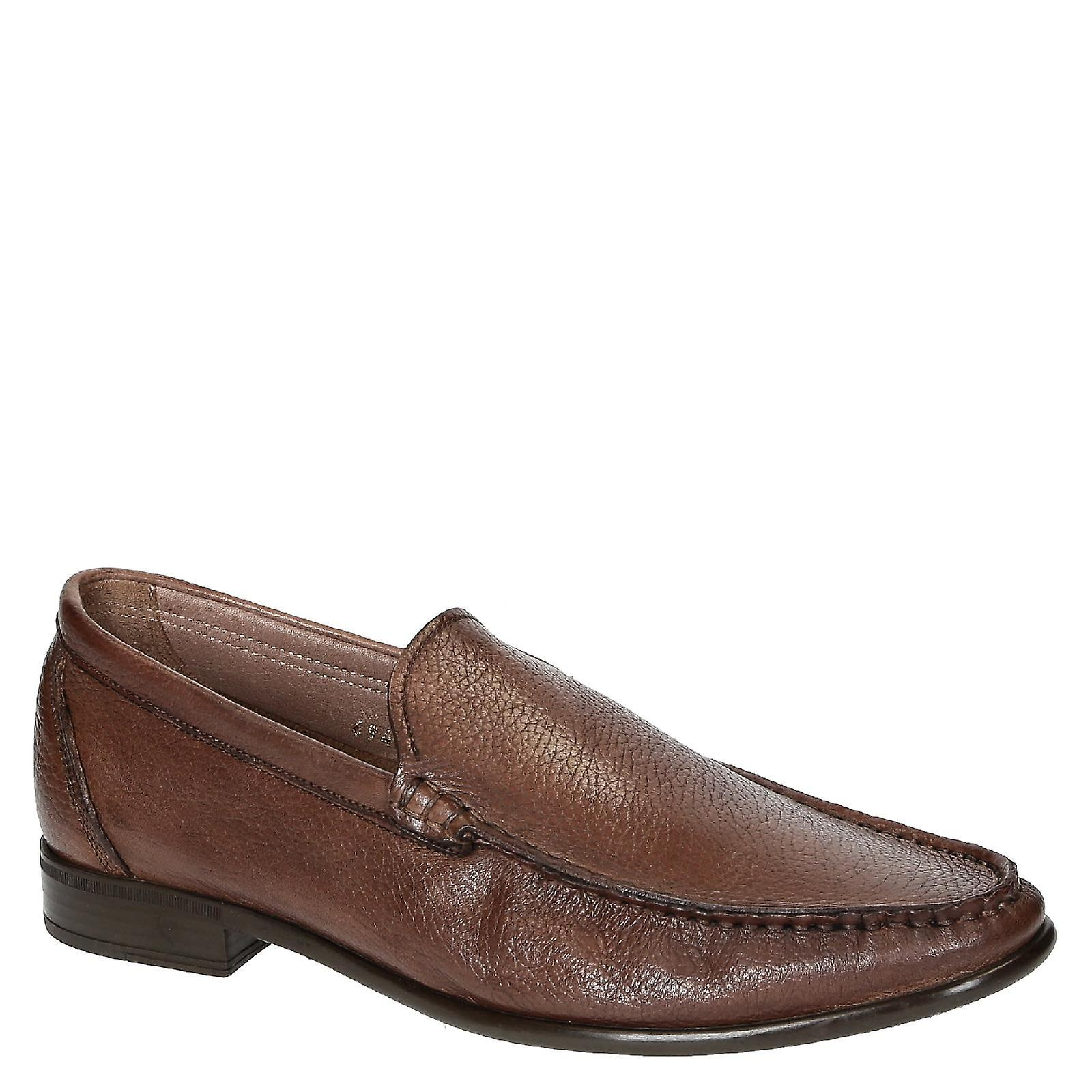 Brandy full grain leather handmade men loafers for men handmade c0fddb