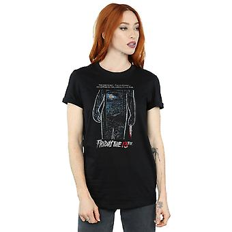 Friday 13th Women's Distressed Poster Boyfriend Fit T-Shirt