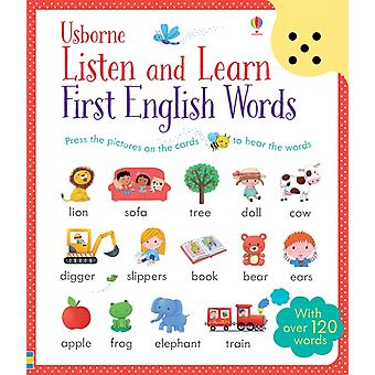 Listen and Learn First English Words (Cards) by Taplin Sam