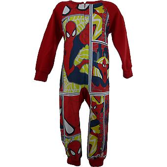 Boys Marvel Spiderman Fleece Sleepwalker Sleepsuit
