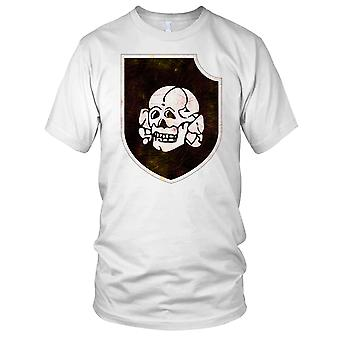 Waffen SS 3 SS Panzer Division Totenkopf Grunge efekt Panie T Shirt